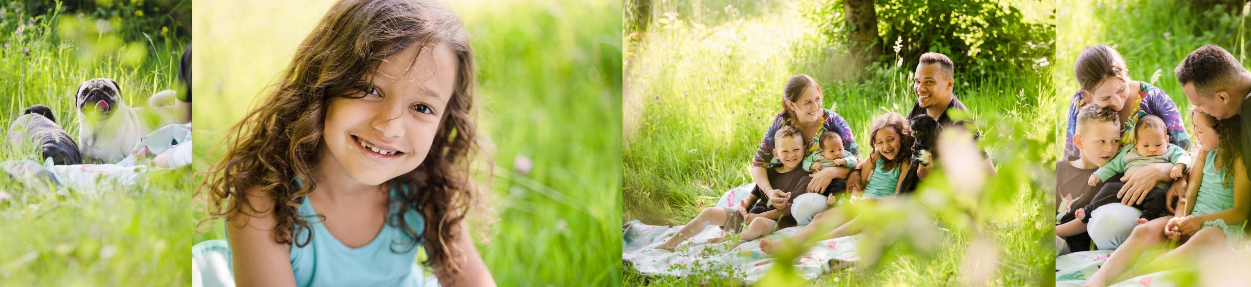 Familiensession im Wald Outdoor Picknick